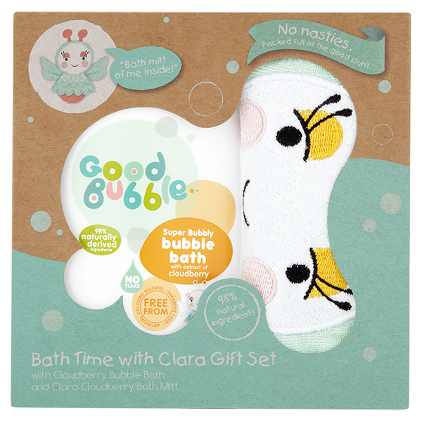 Bath Time With Clara Gift Set With Wash Mitt