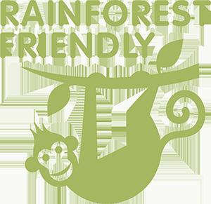 Rainforest friendly logo